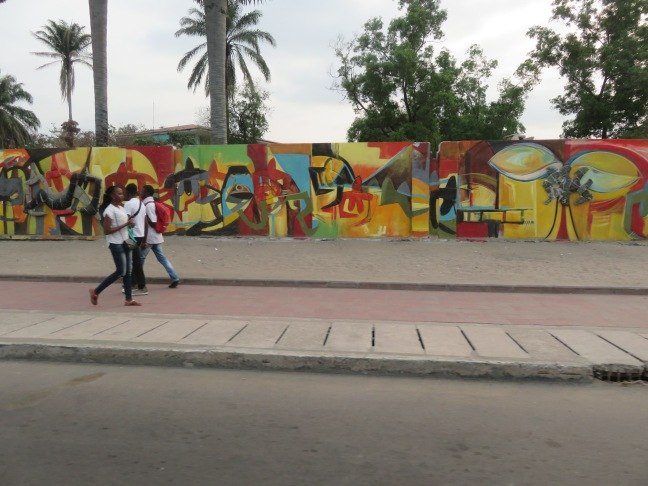 Mural outside Academy of Fine Arts, not far from UPC campus