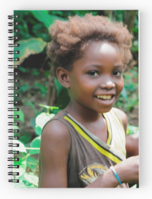 Lotumbe girl Spiral Notebooks